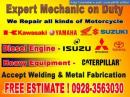 expert mechanical works gas diesel engine heavy equipment